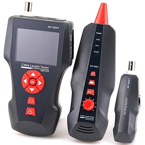 Suministros de Oficina Accesorios Probador de Cable de Red multifunción Probador de Longitud de Cable LCD Probador de Punto de interrupción Versión en inglés