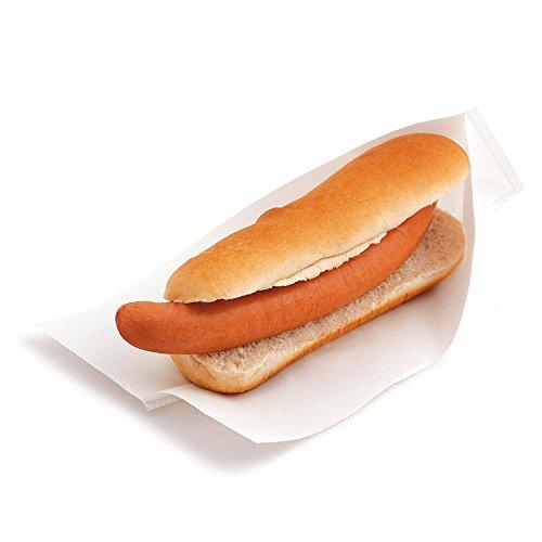 Garcia de Pou 100Einheit, geöffnet Pack Tasche für Häppchen, Hot Dogs in Box 35GSM, 25x 13/10cm, Papier, weiß, 25x 10x 30cm