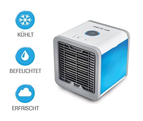 MediaShop Livington Arctic Air – Luftkühler mit Verdunstungskühlung – Mobiles Klimagerät mit 3 Stufen und 7 Stimmungslichtern – Mini Klimagerät mit Tankvolumen für 8h Kühlung - 9