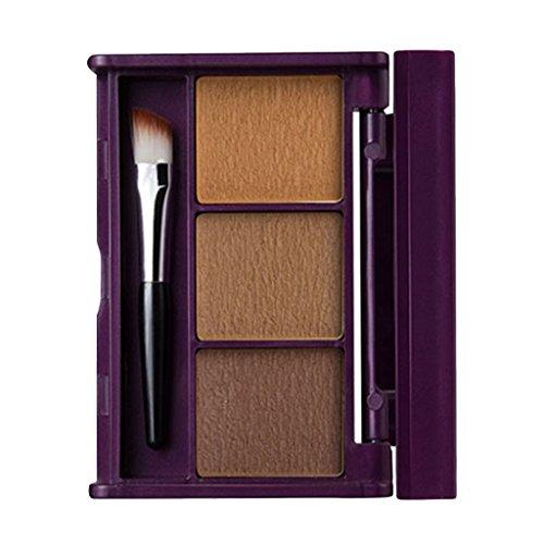 CUTICATE Palette De Sourcils Pour Les Yeux Avec Poudre à Sourcils, Kit D'ombrage Des Ombres Avec Miroir à Brosse - 03