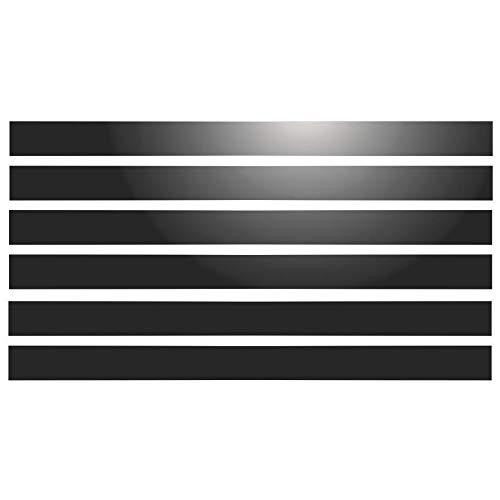 Signal-Streifen, selbstklebend, 6 Streifen, 28 x 2 cm, reflektierend, Schwarz