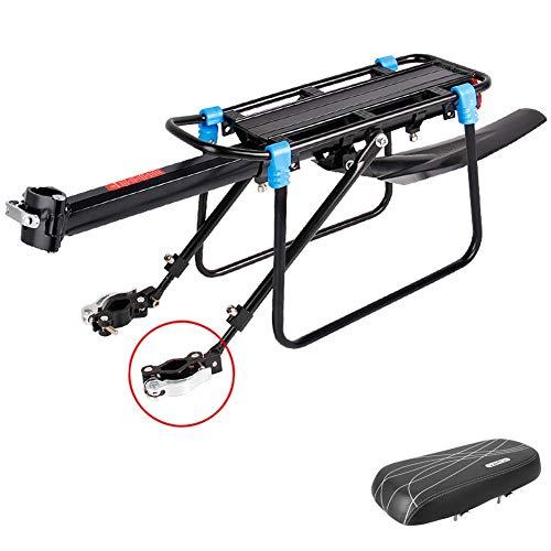 N / A HJWMM Durevole Portaequipajes Bicicleta, Regolabile Portabicicletas con Parafango Compatibilità...