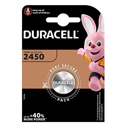 Duracell CR2450 - Confezione con 4 pile a bottone al litio, 3 V