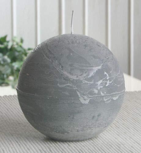 Rustik-Kugelkerze, 10 cm Ø, grau