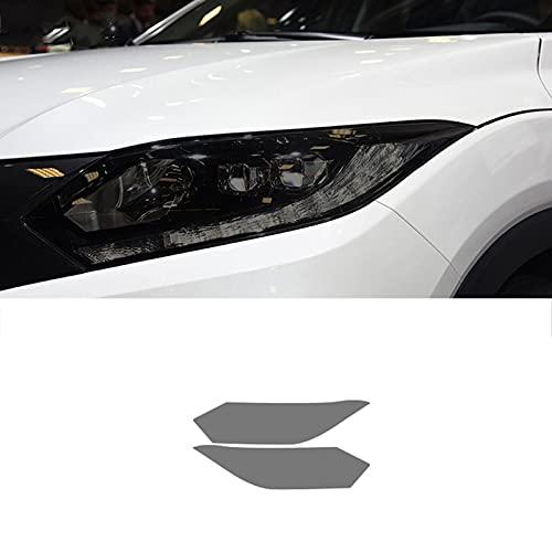Qwldmj 2 uds película Protectora de Faros Delanteros de Coche Pegatina de TPU Negra ahumada para Honda Fit Civic Accord CR-V Pilot HRV Odyssey Accesorios