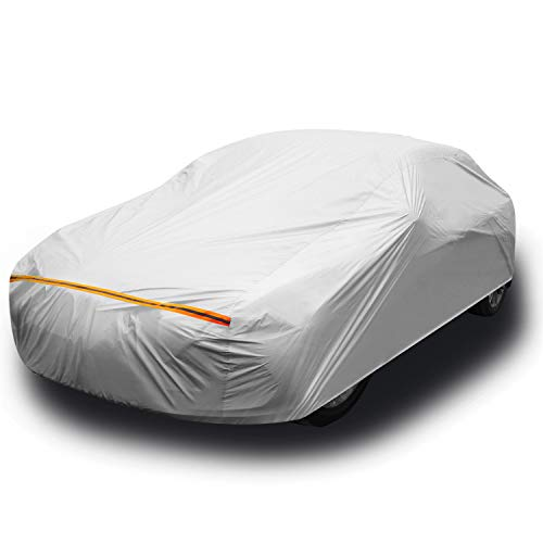 """Car Cover for Sedan L (191""""-201""""), Ohuhu Universal Sedan Car Covers Outdoor UV Protection Auto Cover - Windproof. Dustproof. Scratch Resistant"""