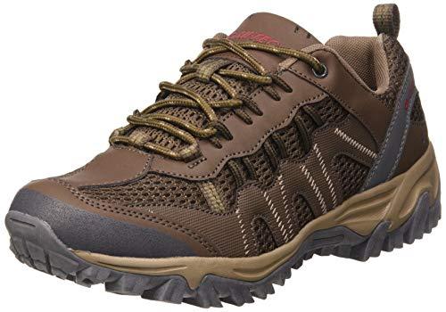 Hi-Tec Jaguar, Zapatillas de Senderismo para Hombre, Marrón (Brown/Red 41), 43 EU