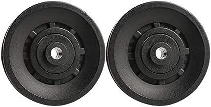 Topfinder 90mm Universal Bearing Pulley Wheel for Cable Machine Gym Equipment Part Garage Door (2 PCS)