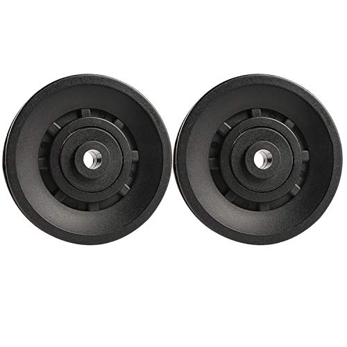 Topfinder 90mm Universal Bearing Pulley Wheel for Cable Machine Gym Equipment Part Garage Door (2 PCS)