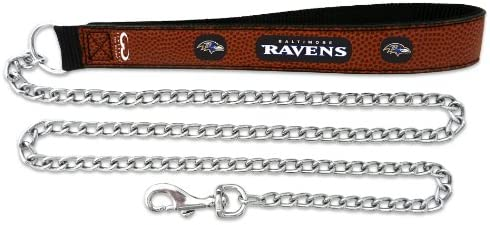 GameWear NFL Dogs Baltimore Max 72% OFF Ravens Dog Leash Long Beach Mall Leather