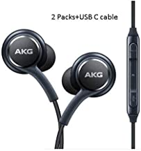 in Ear Stereo Headphones w/Microphone Compatible with Samsung Galaxy S10 S10 Plus S9/S9+ S8/S8+ Note8 / Note9-2019 100% Original Earbuds Remote + Mic with USB C Cable