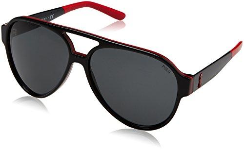 Polo Ralph Lauren 0Ph4130 566887 61 zonnebril, rood/zwart/grijs
