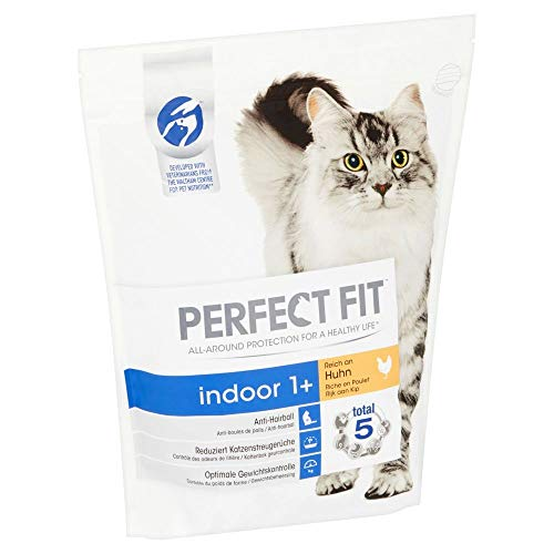 PERFECT FIT Katzenfutter Trockenfutter Indoor 1 + reich an Huhn