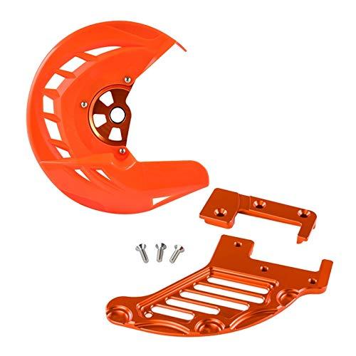 Mszhang Protector de protección de Freno Trasero Delantero/Ajuste para Husqvarna Te Fe TC FC TX FX 125 250 300 350 250i 300i 449 450 150 390 2016 2017 TE250 (Color : Orange)