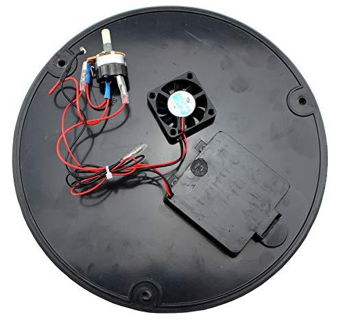 LotusGrill - Placa de suelo de repuesto con ventilador y unidad de cambio