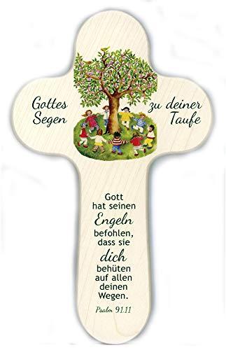 Wort im Bild 887775 Kreuz Gottes Segen zur Taufe - Motiv Baum