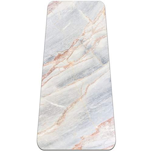 Eslifey Yogamatte mit grauer leichter Marmor-Stein-Textur, dicke rutschfeste Yogamatten für Damen und Mädchen, Gymnastikmatte, weiche...