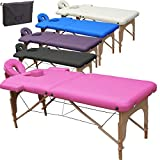 Beltom Table de Massage 2 Zones Portables Cosmetique lit esthetique...