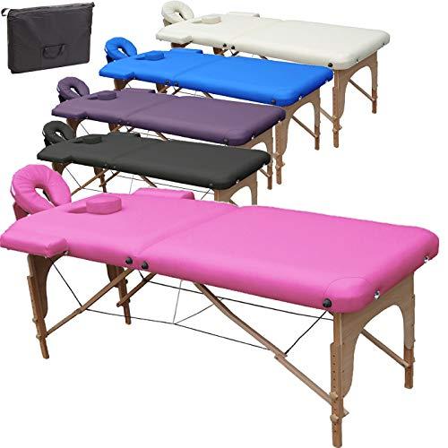 Beltom Mobile Massagetisch Massageliege Massagebank 2 zonen klappbar THERAPIELIEGE +TA. - Pink