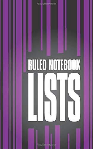 Lists - Ruled Notebook (5x8 Taccuino) (Deep Purple)