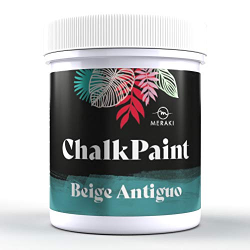 CHALK PAINT Pintura efecto tiza al agua mate (500ML, BEIGE ANTIGUO)