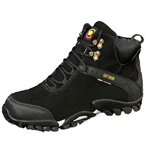 WQLESO Herren Motorradstiefel Rider Boot wasserdichte Motorrad Outdoor Touring Schuhe Ankle Boot,Black breathable-46