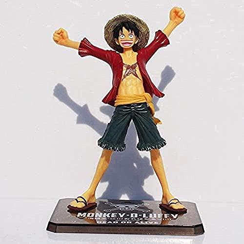 MDCGOK Anime Figura Anime Figura One Piece Luffy Figura para Le Nouveau Monde Sine D Luffy PVC Anime Figuras Maison Decoración 15 cm