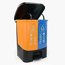 Waste Separation Systems Household Sorting Trash Can, Large Garbage Storage Box, Plastic Garbage Sorting Paper Basket, 15 Liters