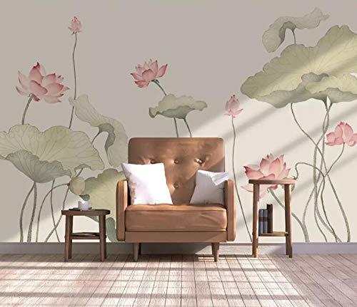 """3D Lotusblad Geschilderd WG0580 Behang Afdrukken Decal Deco Binnen Muur Muurschildering Zelfklevend Behang AJ WALLPAPER NL Muzi (Vinyl (geen lijm en verwijderbaar), 【123""""x87""""】312x219cm(WxH))"""