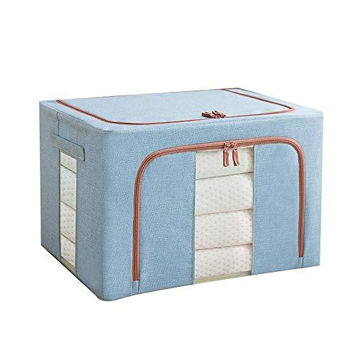 TTOOY Storage Box Fabric Clothing Storage Box Large Folding Wardrobe Storage Box Moving Artifact Clothes Organizer Environmental Protection Material Big Space (Color : Blue, Size : 50x40x33cm)