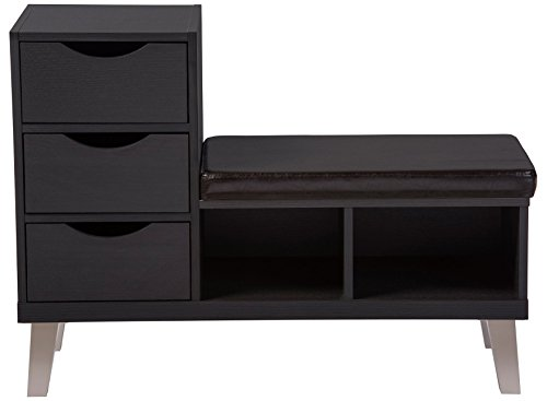 Baxton Studio Arielle Modern Leatherette Seating Bench Now $91.00 (Was $265.00)
