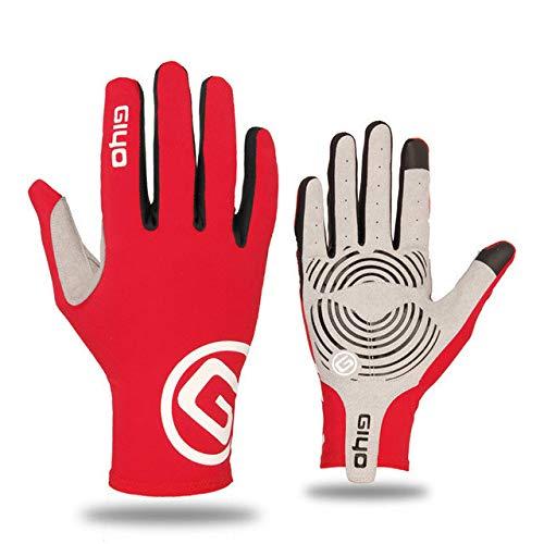 Bildschirm volle Finger von Gel Sport Fahrradhandschuhe von Frauen von Fahrrad Männer Handschuhe von MTB Fahrrad Rennrad Balance von Handschuhen - Rot, L.