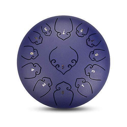 Steel Tongue Drum 13Notes - Tambor de mano (30,5 cm, incluye baquetas, instrumento de percusión, curación de sonido, meditación, yoga