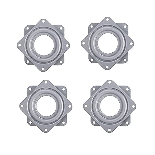 WMLBK 4 herramientas giratorias de 3/4/6 pulgadas, mecanismo de rodamiento de susan resistente, para mesa giratoria de escritorio, taburetes, sillas y muebles de 15,2 cm