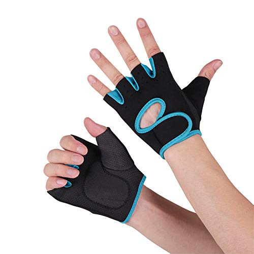 lffopt Weight Lifting Gloves Gym Gloves Gym Gloves For Women Wrist Support For Men Gym Fitness Gloves Men Weight Lifting Wrist Support Workout Gloves blue,XL