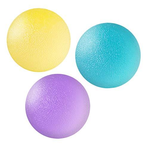 Wishstar Pallina Antistress, 3 Palla Antistress, Pallina Antistress Mano Terapia-Utilizzato per Esercitare Le Dita e Aumentare la Forza della Mano (3 Diversi Livelli di Resistenza)