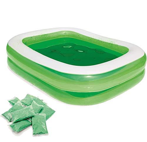 Aufblasbarer Familienpool Swim N Play Kinder-Planschbecken mit Badepulver, grün, 6,7 Fuß