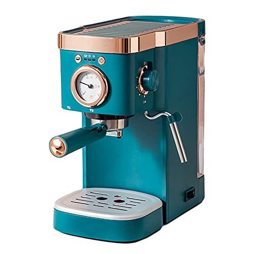Espresso Cappucino Latte Macchiatoに適した高度なカプチーノシステム、家庭用小さなイタリアの半自動、高度なカプチーノシステムを備えたエスプレッソマシン (Blue)