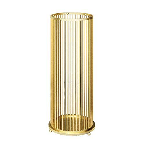Schirmständer WXYZ Licht Schmiedeeisen, Hause Eingang Hotellobby Regenschirm Lagergestell, Mit 4 Haken, Weiß Schwarz Gold Pink 58x22cm (Color : Gold)