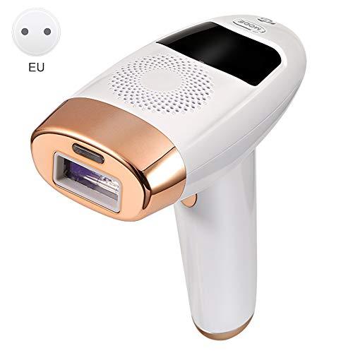 JWBOSS Blattfreier gepulster Licht-Epilierer, IPL 99W Photonen-Epilierer, verlängert das Haarwachstum und ist dauerhaft für männliche und weibliche Körper/Gesicht geeignet (golden)