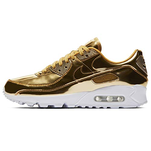 Nike Mujeres Air Max 90 Sp Corriendo Casual Zapatos Mujeres Cq6639-700, dorado (Oro metálico/Oro metálico-club Oro), 44 EU