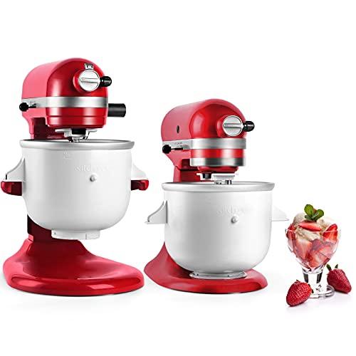Kitchood Ice Cream Maker Attachment for Kitchenaid Stand Mixer,2-Quart Frozen Yogurt - Ice Cream & Sorbet GelatoMaker,Fits 4.5 qt and Larger Mixers