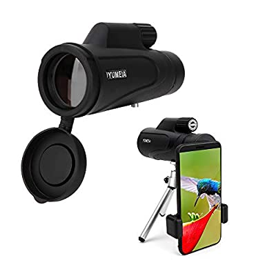High Definition Monocular Telescope and Quick Smartphone Holder, High Power 16X50 Waterproof Monocular Bak4 Prism with Tripod for Wildlife Bird Watching Hunting Camping