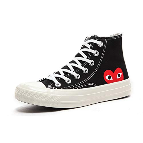Replica 1970s Canvas Shoes Joint Name CDG Play Love Heart Unisex Adults\' High-Top Sneaker