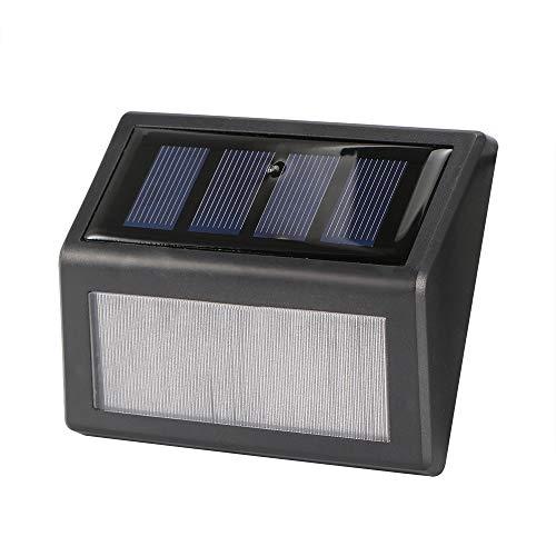Houkiper Solar Bright Plafondlamp, 6 leds, waterdicht, auto on/off, roestvrij staal, stappenlichten, outdoor zonnelampen voor veranda, weg, weg, hek, tuintrap, wandgang, noodverlichting
