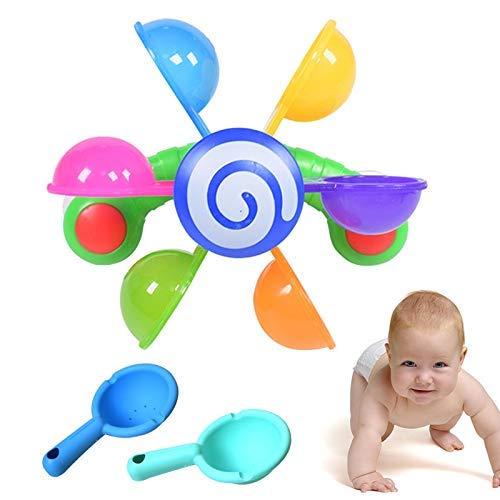 TYUXINSD Lovely Juguetes para bebés Juguetes Juguetes Jugar en Scoop Water Mini Molino Molino Waterwheel Snowdler Baño Bañera Bañera Juguete Niños Niños Verano Baño Juguetes (Color: como se Muestra)