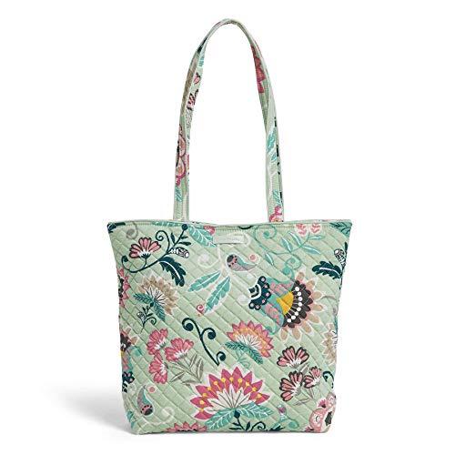 Vera Bradley Signature Cotton Tote Bag, Mint Flowers