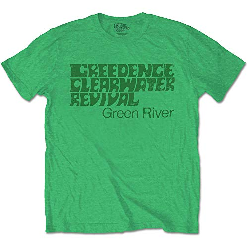 Rock Off Creedence Clearwater Revival Green River Ufficiale Uomo Maglietta Unisex (Large)