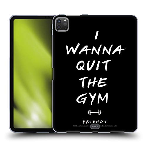 Official Friends TV Show Quit The Gym Iconic 2 Soft Gel Case Compatible for Apple iPad Pro 11 (2020)