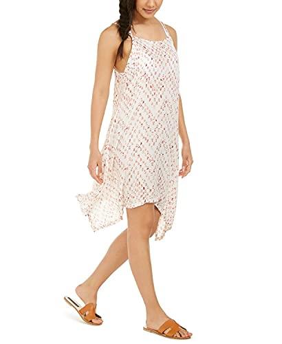 J. VALDI Women's Sleeveless Printed Swim Cover-up Dress (Small)